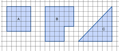 three shapes area
