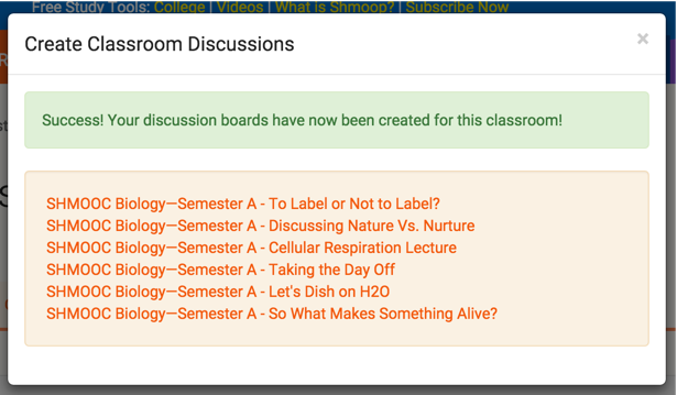 how to create a discussion board