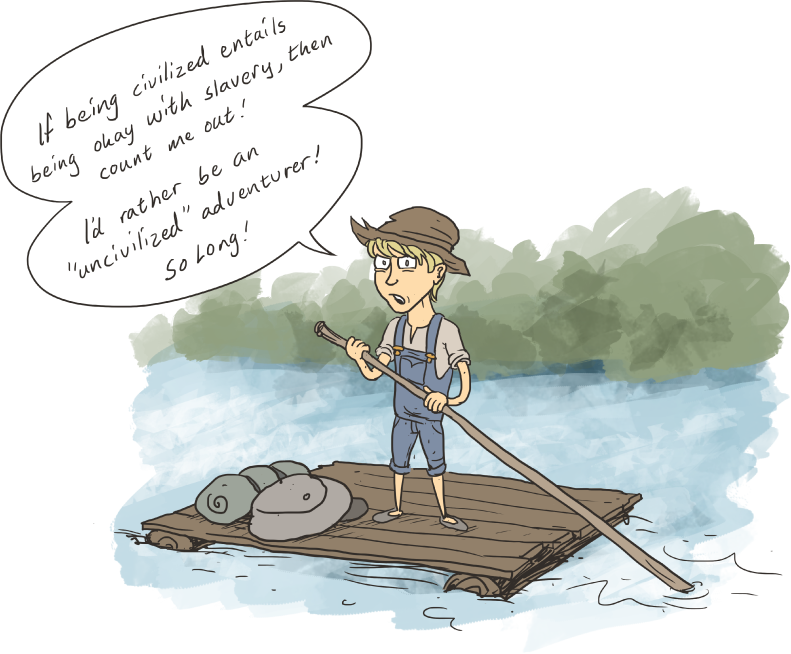 huckleberry finn essays on maturity Get an answer for 'what are examples of huck finn learning to grow up and how does this maturity grow throughout the story' and find homework help for other the.