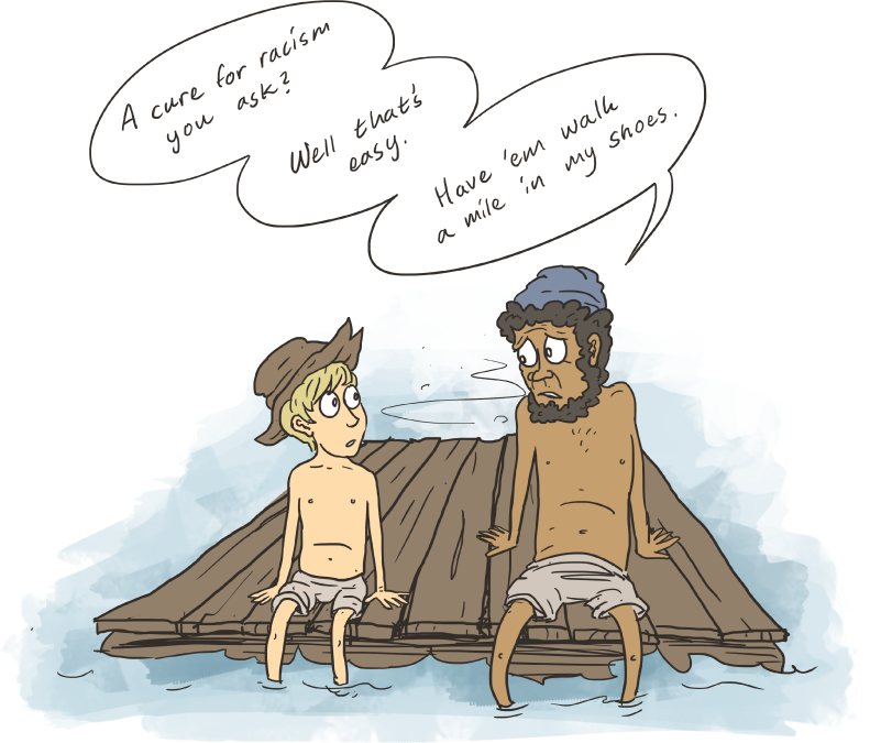 compare and contrast huckleberry finn and Compare and contrast huck's and jim's individual personalities and their relationship to one another the relationship between huck and jim in this context denotes completely, of course that feeling of awakening of the conscience is clear.