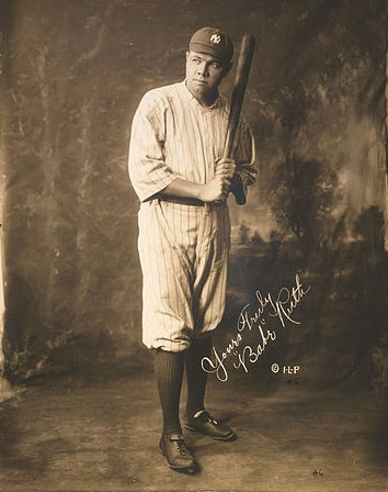 Babe Ruth, Signed Photo