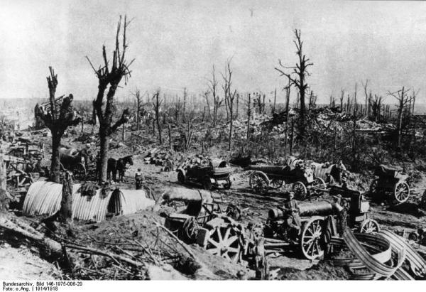 Battlefield in France