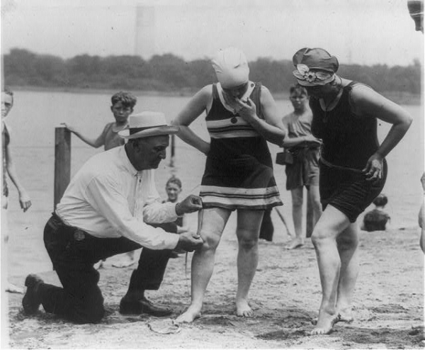 The 1920s Photo Enforcing Modesty