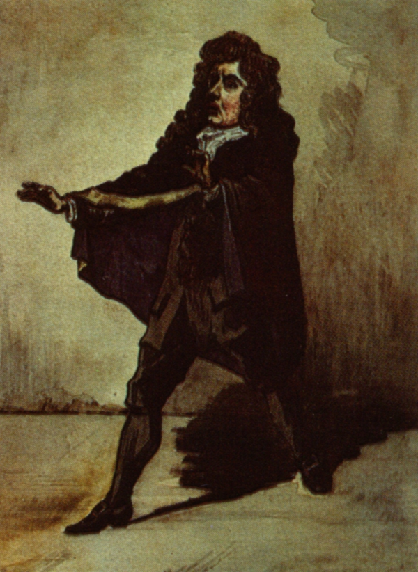 Thomas Betterton as Hamlet