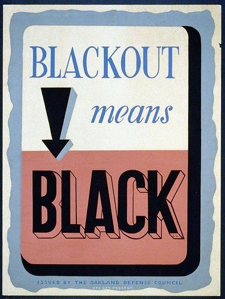 """""""Blackout Means Black"""""""