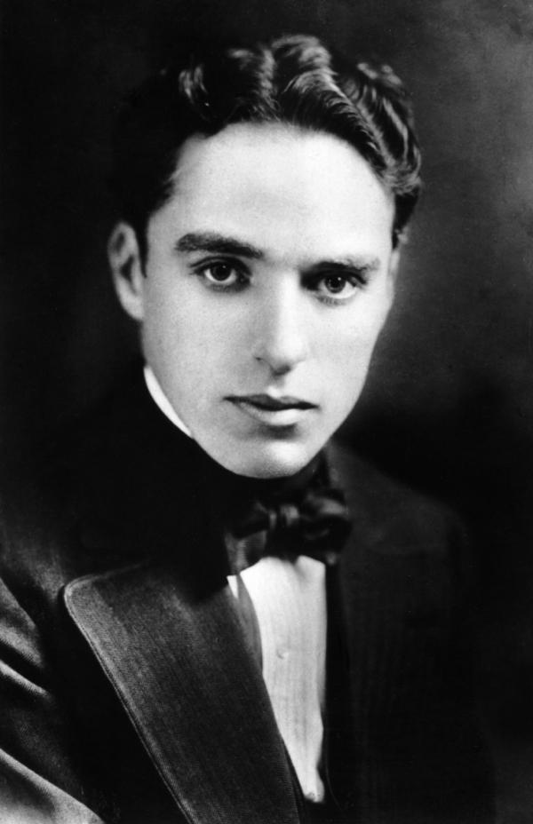 Charlie Chaplin, circa 1910. Unknown photographer. Public domain.