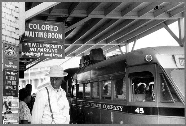 Jim Crow Photo Segregation Bus Station