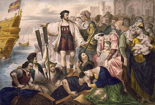 Spanish Colonization Photo: Columbus Leaves Spain