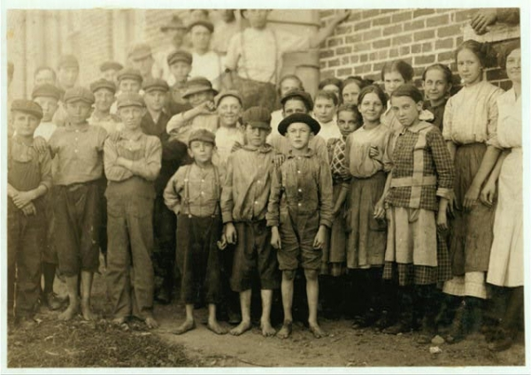 Young Cotton Mill Workers