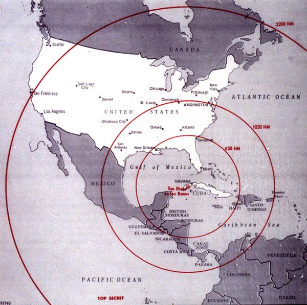 Cuban Missile Range Map