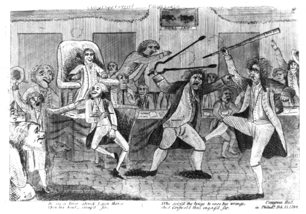 Fighting in Congress