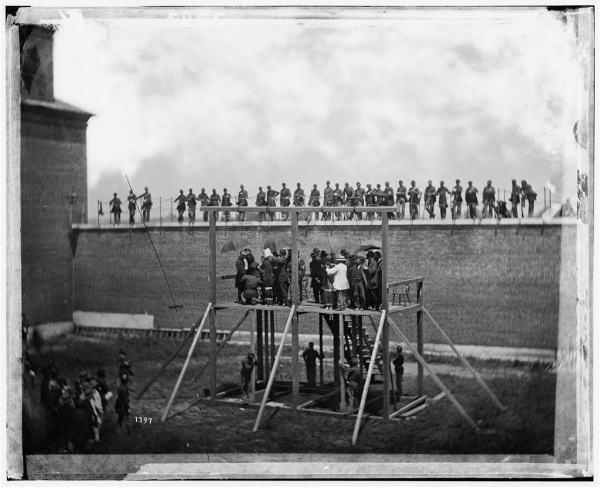 Hanging Pictures the civil war photo: hanging the conspirators