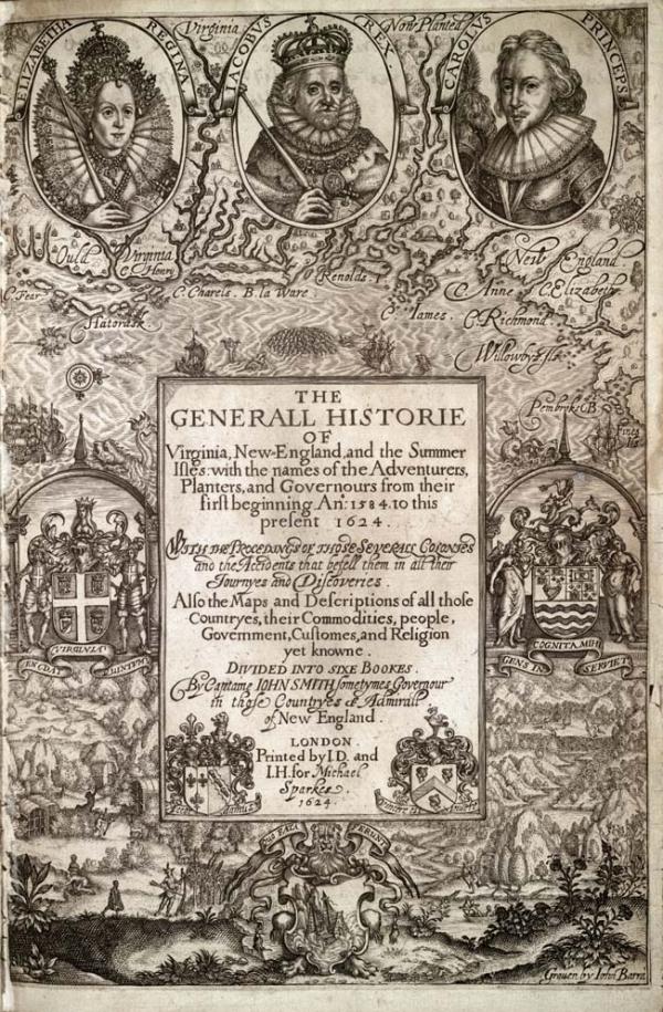 """Historie of Virginia,"" 1624"
