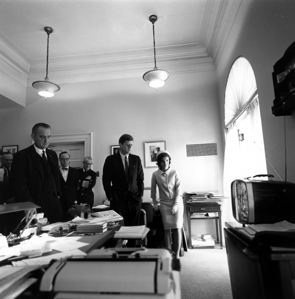JFK Watching Spaceflight