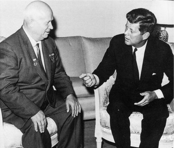 Kennedy and Khrushchev