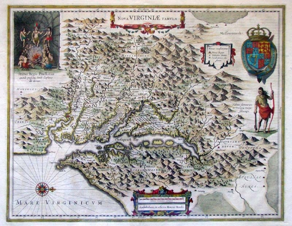 Jamestown Photo John Smith39s Map