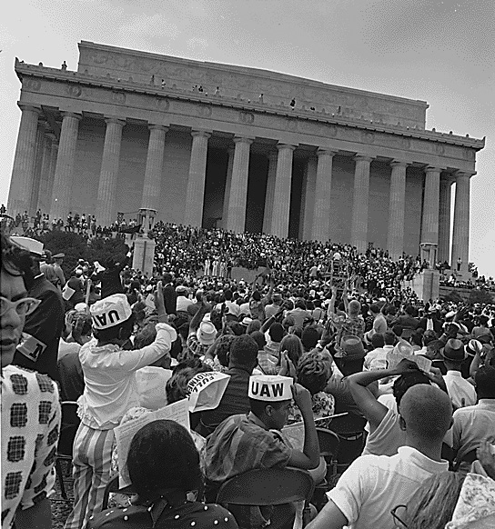The March at Lincoln Memorial