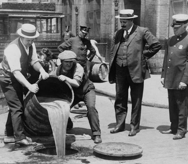 Dumping Illegal Liquor