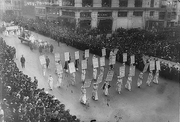 Suffragettes Marching