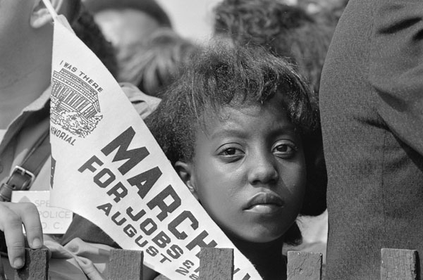 Girl at March on Washington