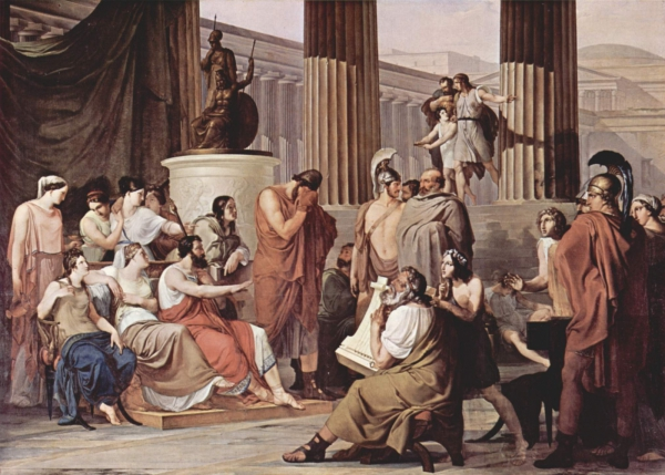 Odysseus in Alcinous' Court