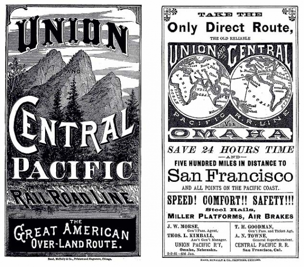 Transcontinental Railroad Photo The Over Land Route