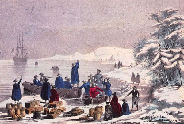 an analysis of the pilgrims landed on plymouth rock Until the third quarter of the 19th century, music, literature and popular art  concentrated on the pilgrims' landing at plymouth rock and their first encounters  with.