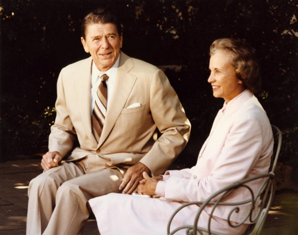 Reagan and Sandra Day O'Connor