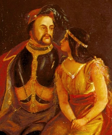 jamestown photo  rolfe and pocahontas