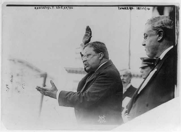 Roosevelt Speaking, 1912