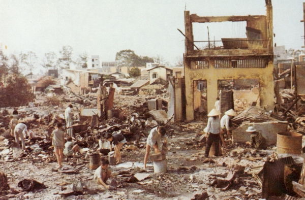 Rubble in Saigon