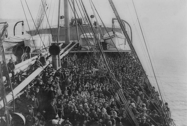 Immigrants on a Ship