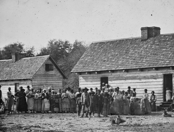The Civil War Photo Slaves On A Plantation