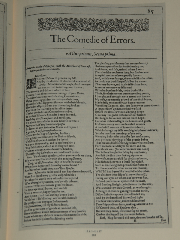 an analysis of literary elements in the comedy of errors by william shakespeare The comedy of errors and dave features  introduction the guy who kinda looks like me is the guy that brings me a joy is true for both dave letterman's late show and william shakespeare's play the comedy of errors.