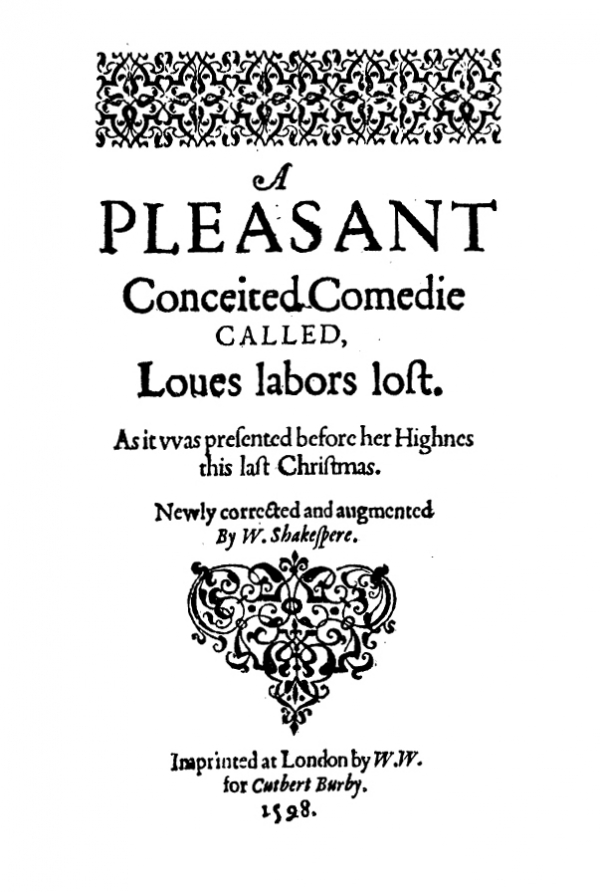 Title Page, First Quarto
