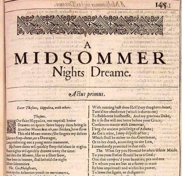 A midsummer night's dream book report