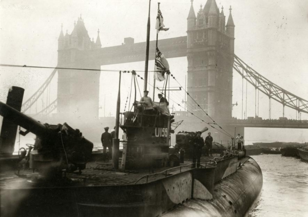 A U-Boat at Tower Bridge