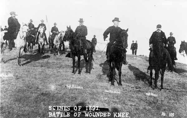 Officers at Wounded Knee