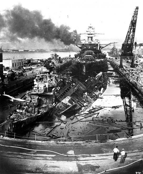 Wreckage at Pearl Harbor