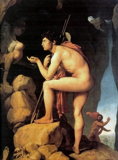 Oedipus and Sphinx, by Ingre