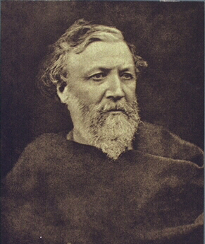 A sepia-toned photograph of Robert Browning.