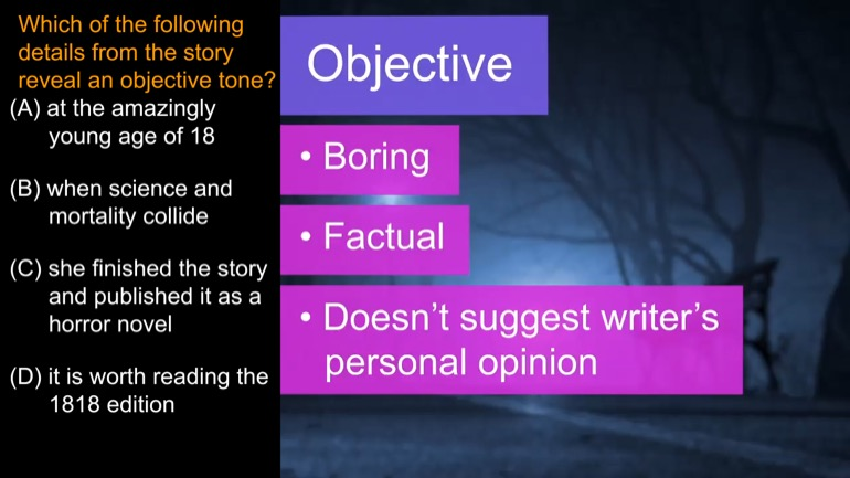 what is an objective tone