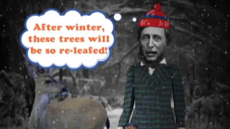 How does Thoreau express the theme of self- reliance in Walden?